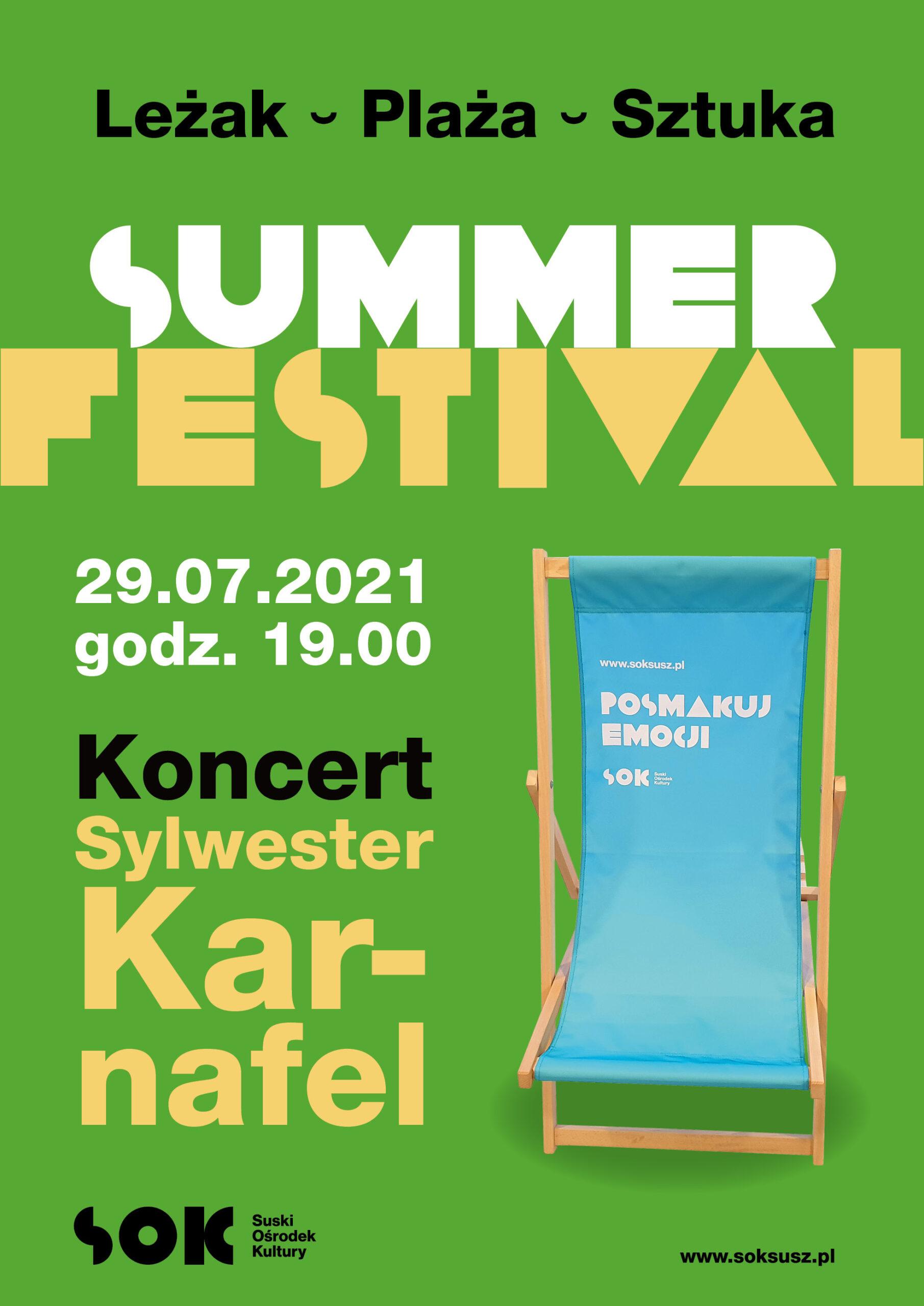 Sylwester Karnafel / Summer Festival / 29.07 19:00 Koncert