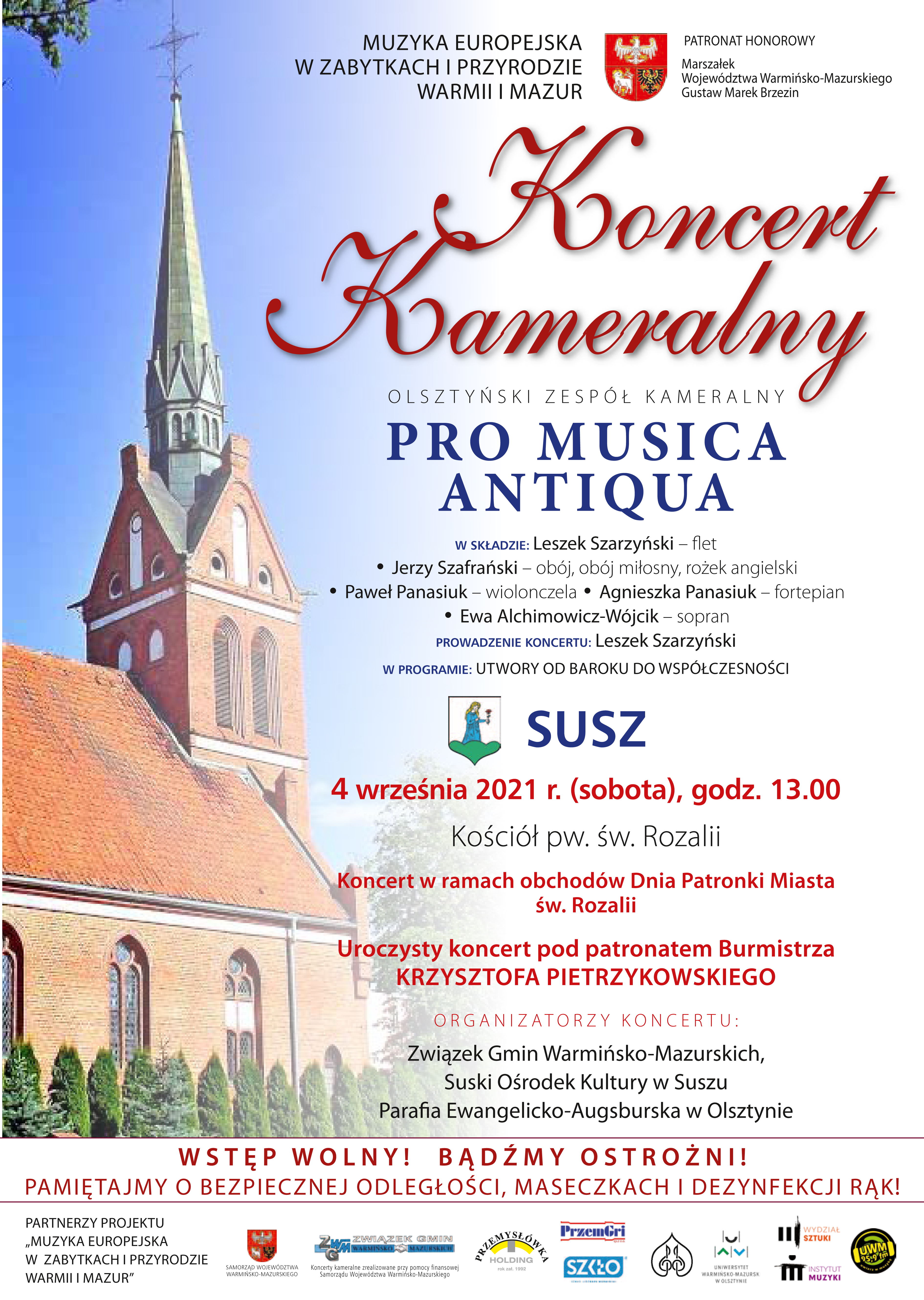Koncert Pro Musica Antiqua / 04.09 / 13:00 / Święto Patronki